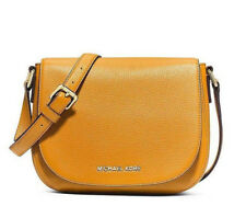 New Michael Kors Bedford Medium Flap Messenger Crossbody Bag Sun Yellow