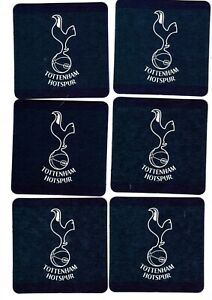 TOTTENHAM HOTSPUR F.C. Pack of Crested Beer Mats / Coasters FREE POST UK SPURS
