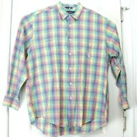 Large (L) Nautica Multicolored Checkered Long Sleeve Button Up