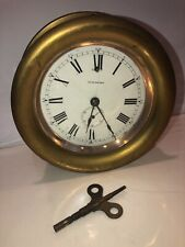 Seth Thomas Brass Ship Clock