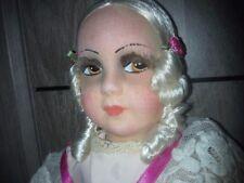 Grande poupée de salon  ancienne  papier pressé ?  Doll sofa puppe shabby chic