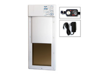 New listing Electric Pet Door 2 Collars Home Safety Large Electronic Fully Automatic Dog Cat