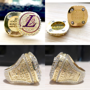 2020 OFFICIAL Los Angeles Lakers Reversible Championship Ring #JAMES Size 6-15