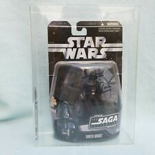 Star Wars The Saga Collection Darth Vader signature autograph Dave Prowse UKG 70