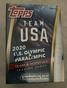 2020 TOPPS Team USA U.S. Olympic & Paralympic Trading Cards Blaster 25 Cards-New