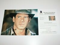 HARRISON FORD SIGNED 'INDIANA JONES' 11x14 MOVIE PHOTO BECKETT COA HANS SOLO BAS
