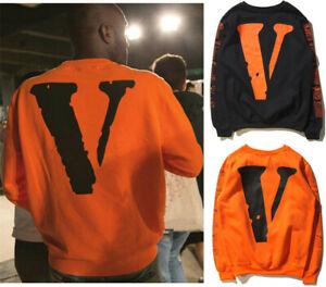 Herren Vlone Friends Freunde V Style Kapuzen Pullover Sweatshirt Sweater Hoodie