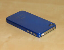 Blue Hard Back Skin Case Cover For Apple iPhone 4G