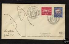 United Nations Europe stamps on cover
