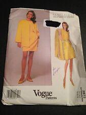 Uncut Vogue 2872 Sewing Pattern, Misses' Petite Jacket/Skirt/Top 14/16/18 Ellis