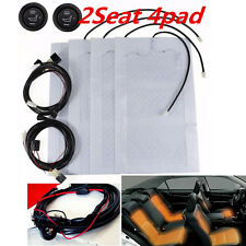 2-Seat Carbon Fiber Heating Pads SUV Car Interior Seat Heater Kit 12 w/ Switches