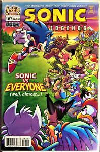 SONIC The HEDGEHOG Comic Book #187 June 2008 First Edition Bagged & Boarded NM