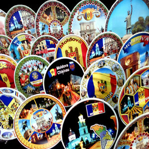 CERAMIC DECORATIVE PLATE MOLDOVA SOUVENIR COLLECTORS TOURISTS CHOOSE FROM 17 PIС