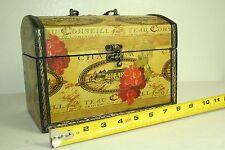 Keepsake jewelry trinkets treasure chest box