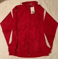 NEW FIRSTAR JACKETS RED/WHITE JACKETS SALE!!!!!! Warm ups Game Ready Hockey