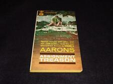 """Gold Medal D1958 $0.50 cover Edward S Aarons """"TREASON"""" McGinnis G/VG"""