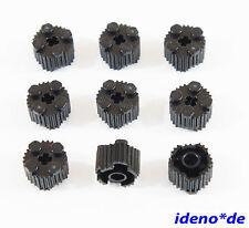 LEGO BASE 9 pz. PIETRA scanalato 2x 2 rotondo nero 92947 Black 6024730 NUOVO