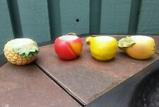 6 Partylite tealight candle holder Fall Autumn Squash Apple Pineapple Pear Fruit