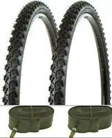 "26 x 1.95 Bicycle Tires Mountain Bike 26"" NEW 26x1.95 (2 tires - 2 tubes)"