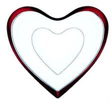 Glasschale 2 Heart roter Rand  sehr selten nicht mehr im Programm von Nachtmann