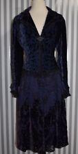 Elie Tahari Burnout Velvet Silk Skirt Blazer Suit Set Purple Blue Floral SZ M