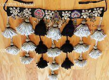 "Desert Sand Cowry Shell Belly Dance Belt with Tassels Large 38"" Belt"