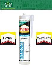 SILICONE SIGILLANTE PATTEX CARTUCCIA ML 280 TRASPARENTE BIANCO