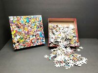 Disney Collector Pins Vintage Poster Ceaco 750 Pcs Jigsaw Puzzle 2015 Complete..