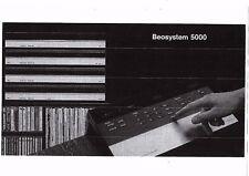 B & O Bang & Olufsen Bedienungsanleitung user manual für Beosystem 5000  Copy