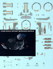 Star Trek USS Defiant MARKINGS Decals 1/2500 scale 3 Names & Registries