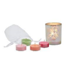 PARTYLITE Illusions Floral Tealight Holder Set   ***BRAND NEW IN BOX***