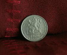 1978 Czechoslovakia 50 Haleru World Coin KM89 Czech Lion Star Socialist Shield