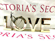 Victoria's Secret GOLD LOVE HEART BOOKEND Shelf Table Decor SOLD OUT NWT