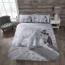 hiver Ours polaire fille Blanche-Neige GREY NOIR housse couette simple
