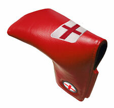 ENGLAND LEATHERETTE TRADITIONAL GOLF PUTTER COVER- RED
