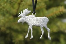 Hastings Pewter Lead Free Pewter Moose Ornament decoration holiday gift USA  New