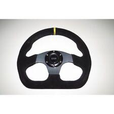 "Steering Wheel Suede 320mm 13"" Inch Flat D Shape IVA Race Car New Carbon Look"