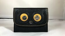 NWT 2017 Bears Collection - Coach Owl Eyes Card Pouch Black