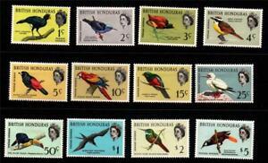 BRITISH HONDURAS.1962 SET(12). BIRDS.MOUNTED MINT.SG.#202-213