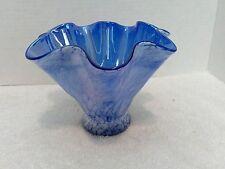 Krosno Jozefina Blue and Opal Art Glass Vase
