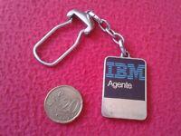 LLAVERO OLD RARE KEYRING KEYCHAIN PORTE-CLÉS PARA AGENTE IBM AGENT INFORMÁTICA