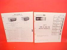 1977 FORD RANCHERO TRUCK LINCOLN MERCURY PHILCO AM-FM RADIO SERVICE SHOP MANUAL