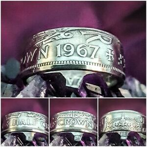 Coin Ring 1967 Size Z+1  Halfcrown Coin Ring