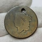 """1826 Large Cent 1¢ Matron Head Old Worn U.S. Copper Coin # 33 """" NO RESERVE """""""