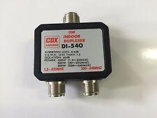 CDX INDOOR DUPLEXER CONNECT 1 RADIO TO 2 ANTENNAS UHF VHF 500W POWER MAX