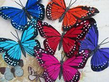 """12 Poly 4"""" Big Monarch Butterfly Floral Arrangement Decoration Mix Color H150-C"""