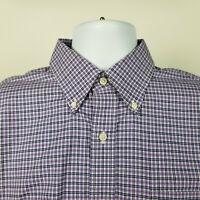 Lauren Ralph Lauren Classic Fit Non Iron Blue Purple Check Dress Shirt 16 34/35