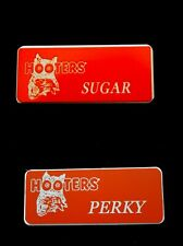 2 New Hooters Girl Uniform Name Tag Sugar & Perky lingerie Costume Accessory Pin