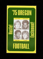>Original/GEM 1975 Oregon Ducks FOOTBALL POCKET SCHEDULE with PLAYER PHOTOS