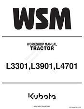 KUBOTA TRACTOR L3301 L3901 L4701 WORKSHOP SERVICE REPAIR MANUAL REPRINTED 2016